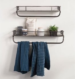 Metal Wall Shelf w/ Bar