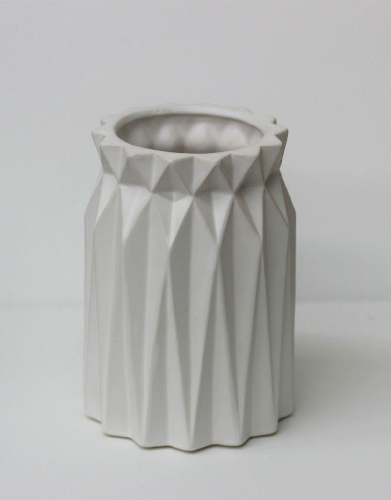 Oragami White Vases