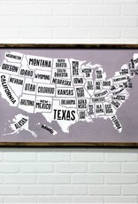 "24""x36"" Framed State Map"