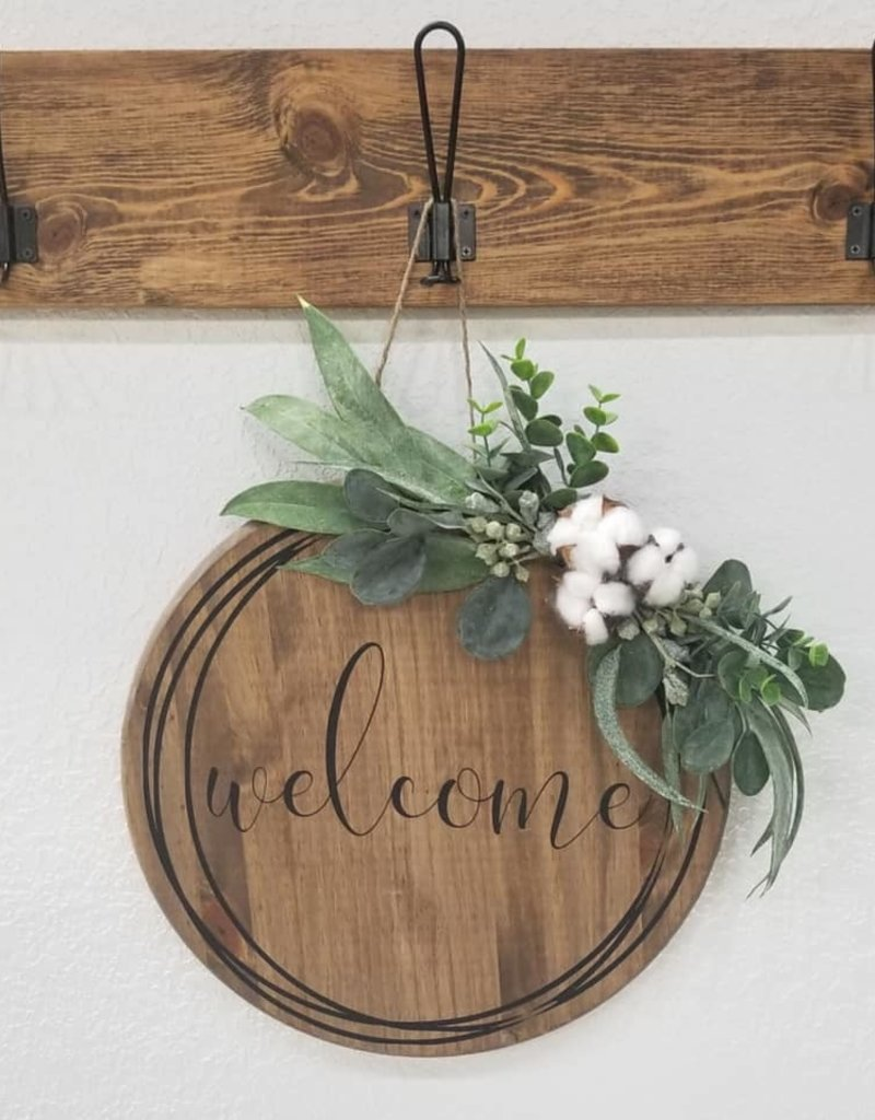 """15"""" Round Welcome Sign"""