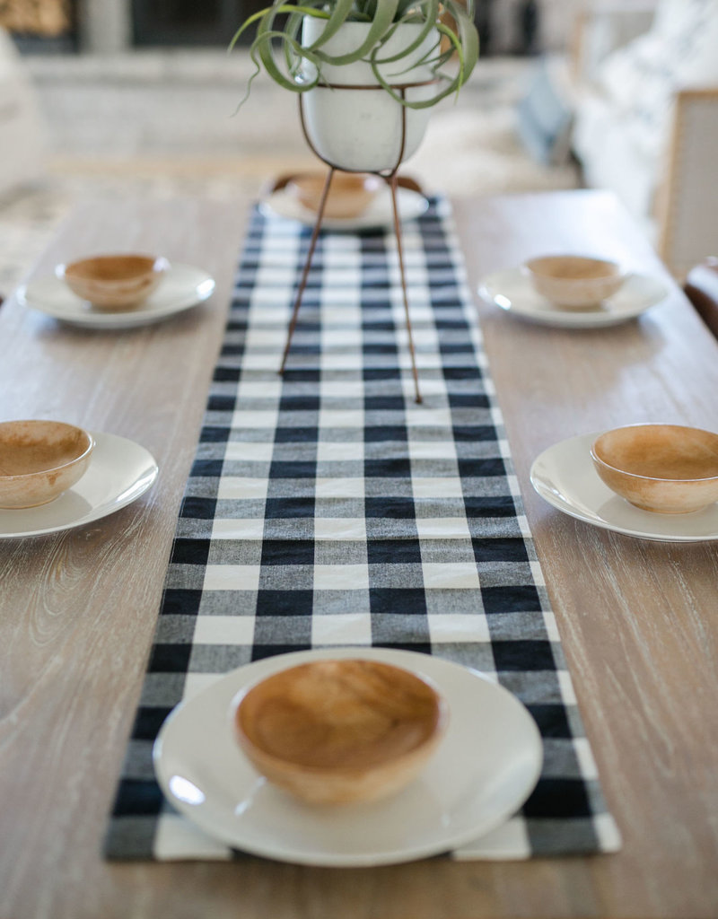 Franklin Black Table Runner