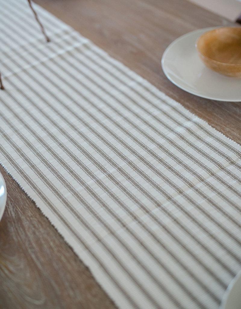 Ticking Stripe Clay Runner