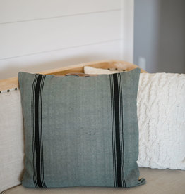 Square Gray and Black Pillow