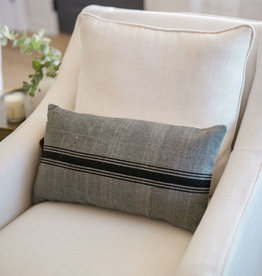 Lumbar Gray and Black Pillow