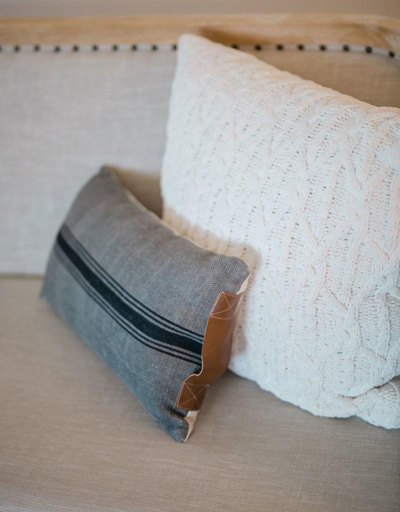 Lumbar Gray and Black Pillow