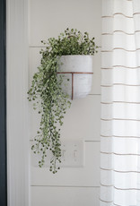 White Wash Clay Flower Bell w/ copper wall mount