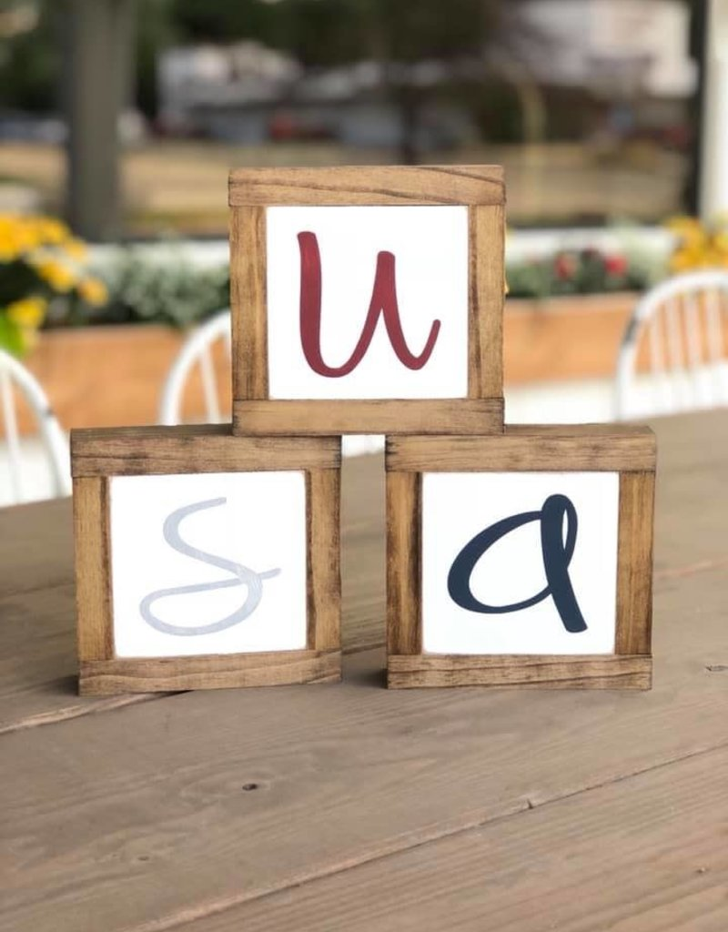 USA set of 3 Mini Signs