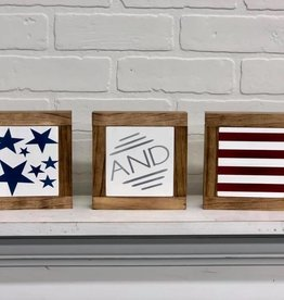 Stars and Stripes set of 3 Mini Signs