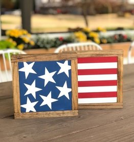 7.5 Set of 2 Stars and Stripes