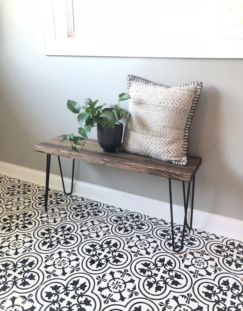 Wood/Metal Bench