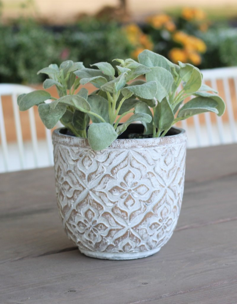 Patterned Round Pot