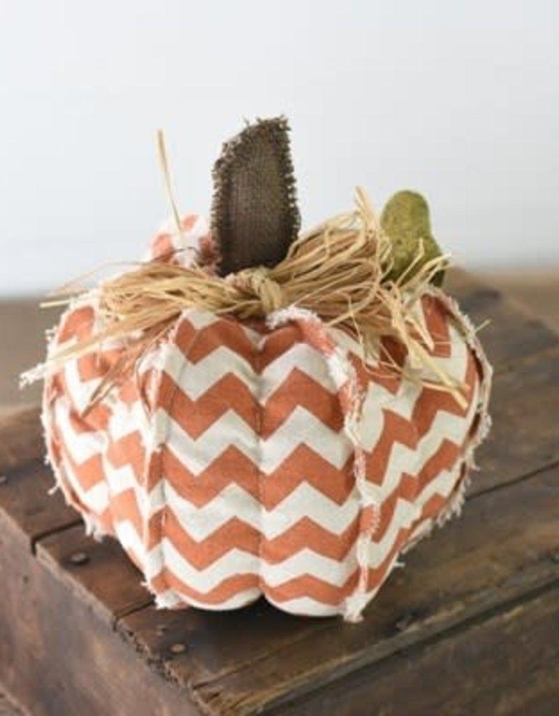 Orange Chevron Pumpkin