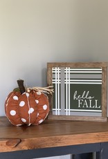 Hello Fall Plaid Sign