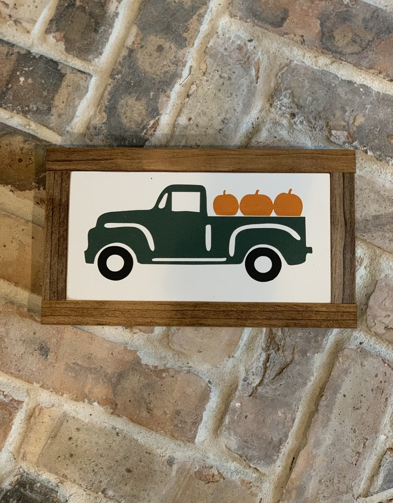 Vintage Truck with Pumpkins
