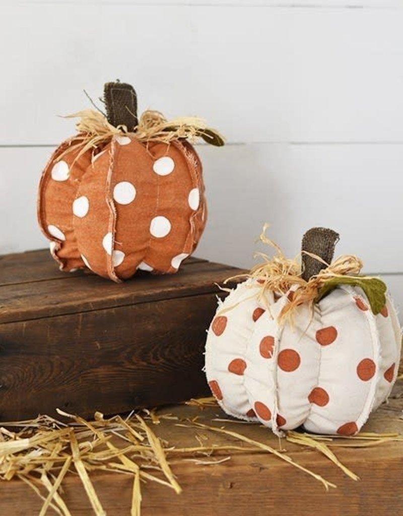 Orange/White Polka Dot Pumpkins