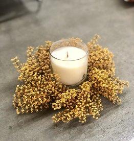 Bursting Asilbe Candle Ring Mustard