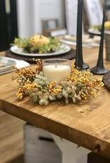 "3"" Pebble Creek Candle Ring, mustard"