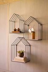 Set of 3 metal House Shelves