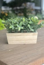 Artificial Thyme in a Rectangle wood Planter