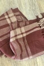 Plaid Throw - Wine