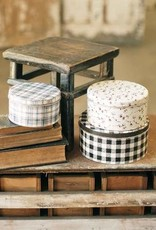 Plaid & Cotton Tins