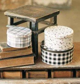 Plaid & Cotton Tins