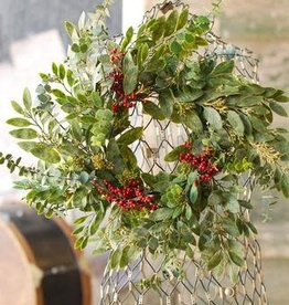 Eucalyptus and Seeds Wreath