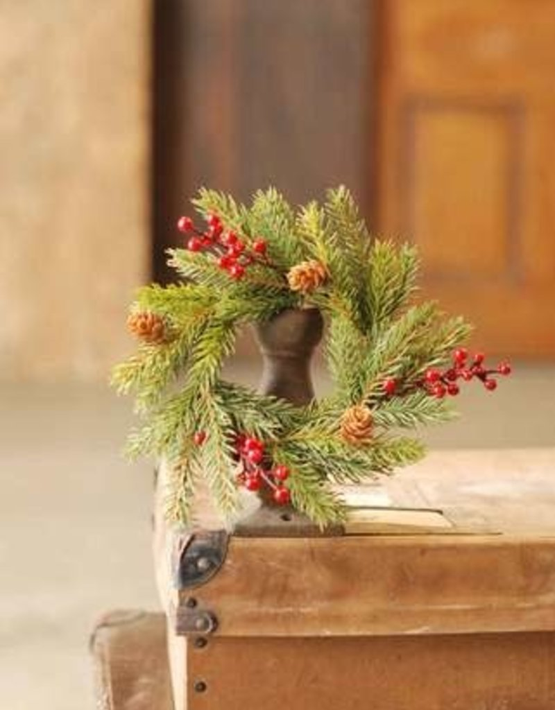 """8"""" White Spruce w/Berries Can Ring"""