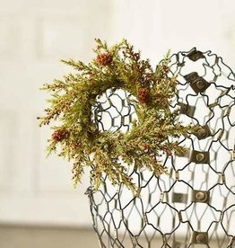 """3.5"""" Speckled Berry Pine Candle Ring"""