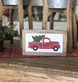 Truck with Tree 5.5 x 9.5
