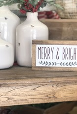 "Merry & Bright 5.5"" x 9.5"""
