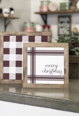 Merry Christmas Striped Sign