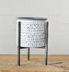 "Modern Tin Planter 6"""