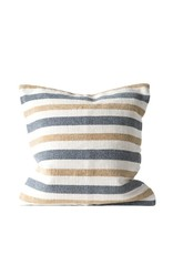 "20"" Cotton Woven Striped Pillow Grey/Sand"