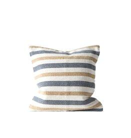 "20"" Cotton Woven Striped Pillow Grey/Sand"