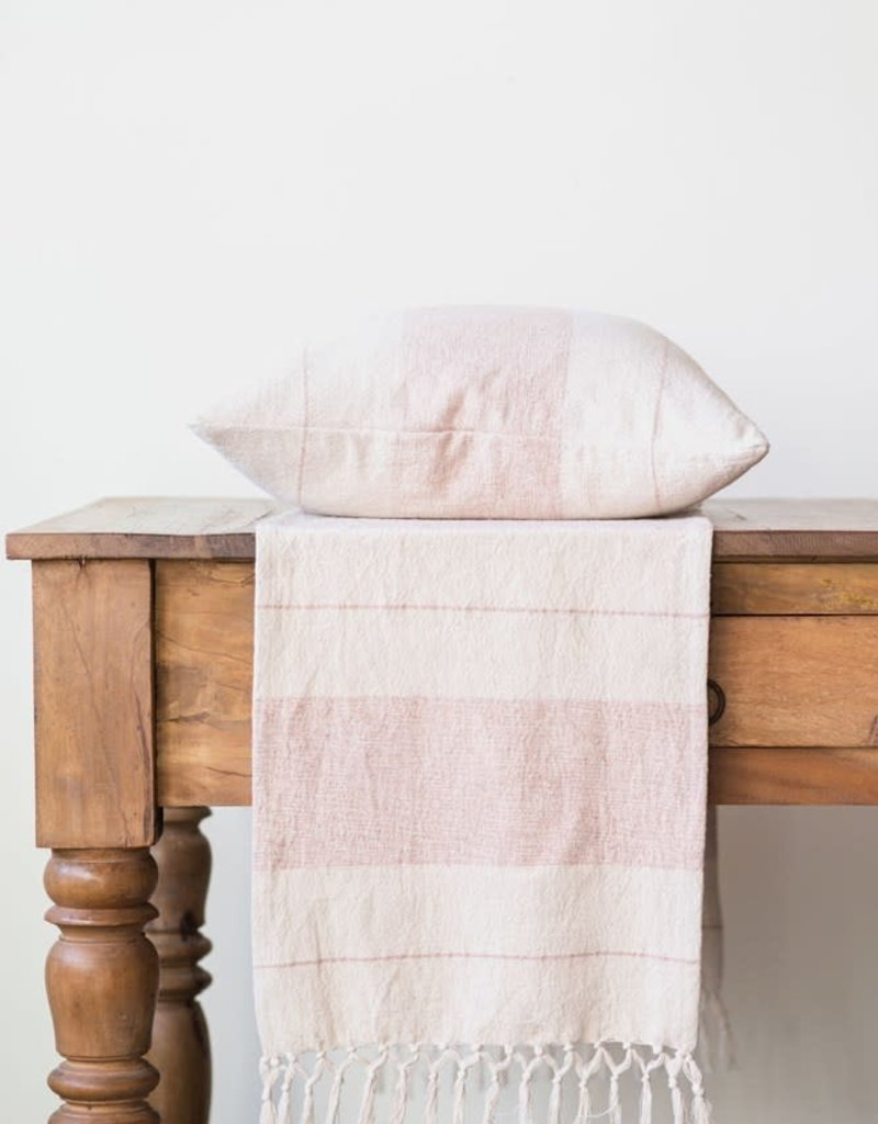 Cotton Striped runner russet/natural