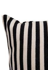 "24"" Square Woven Striped Pillow"
