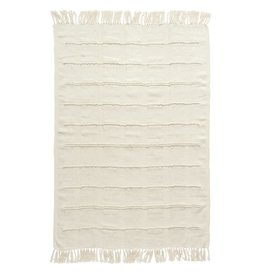 Cream Chenille Throw