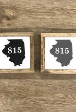 815 Illinois Wood Sign