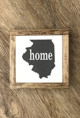 Illinois home wood sign
