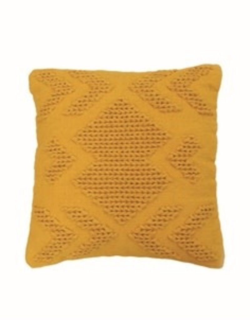 Nia Pillow 20x20, Mustard