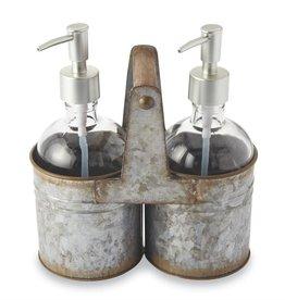 Tin Soap Caddy Set