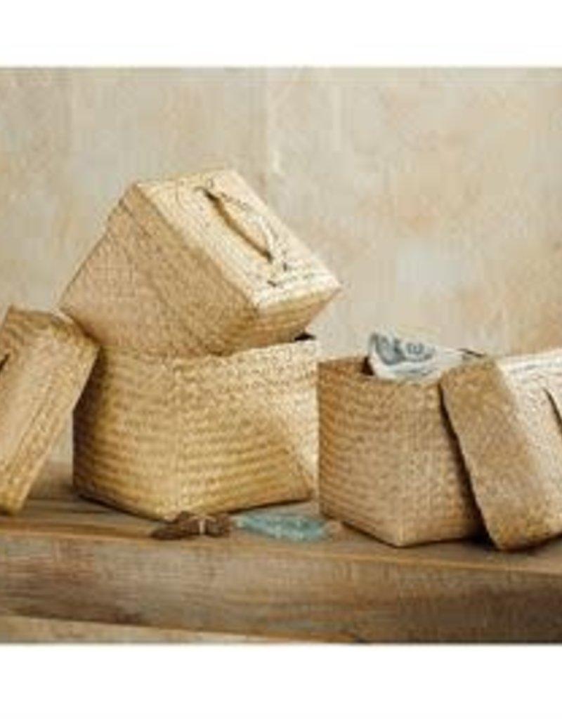 Woven seagrass Square box
