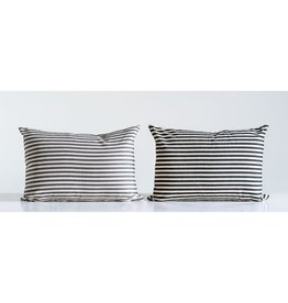 "Cotton Striped pillow 20""L x 14""H"
