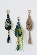 Jute Wall hanging planter 22""