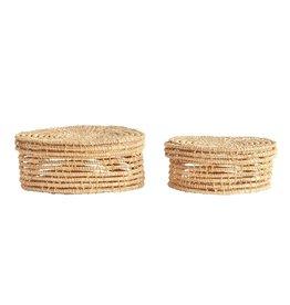 Hand Woven Palm boxes Set/2