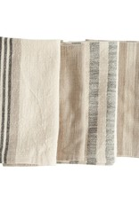 Cotton woven striped napkins Set/4