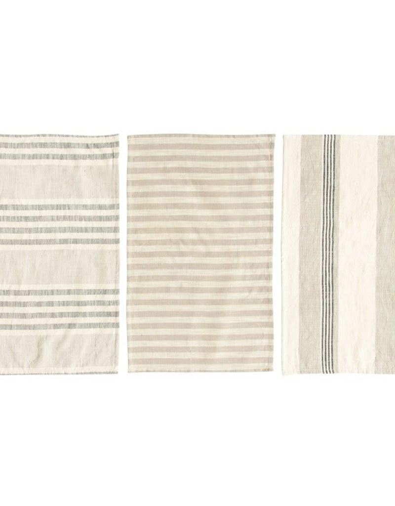 Cotton striped tea towels Set/3