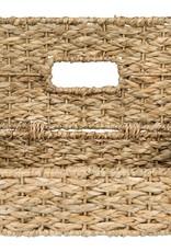 Hand woven tissue holder