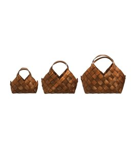 Seagrass Baskets w/ leather handle
